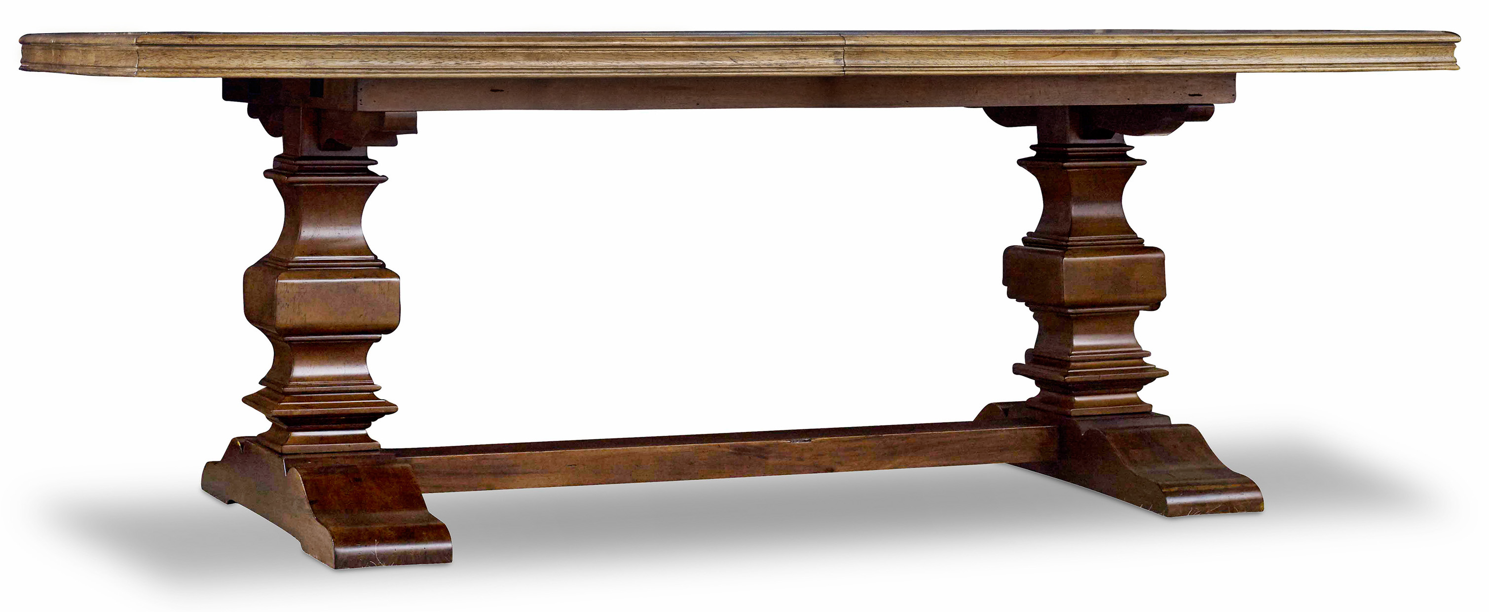 Hooker Furniture Archivist Trestle Table - Item Number: 5447-75206-TOFFEE