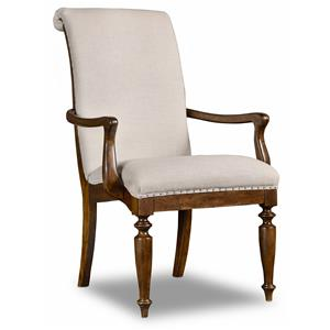 Hamilton Home Sentinel: Pecan Upholstered Arm Chair