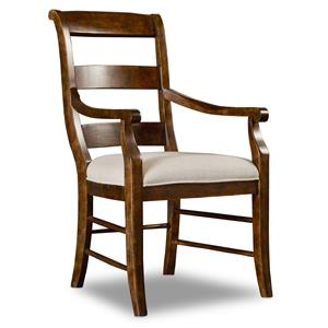 Hamilton Home Sentinel: Pecan Ladderback Arm Chair