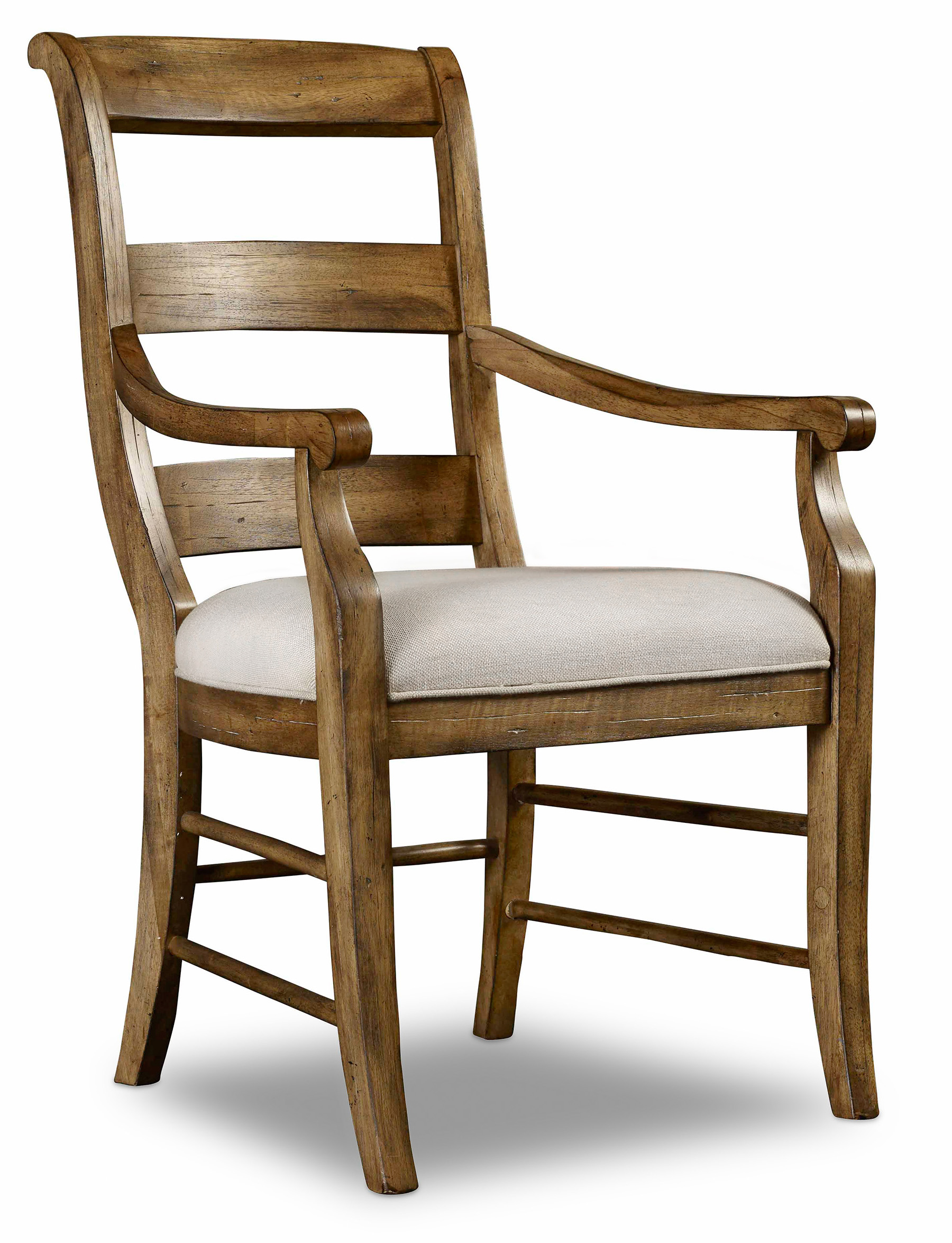 Hooker Furniture Archivist Ladderback Arm Chair - Item Number: 5447-75700-TOFFEE