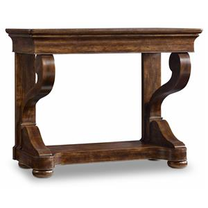 Hooker Furniture Archivist Scroll Leg Consulate Table