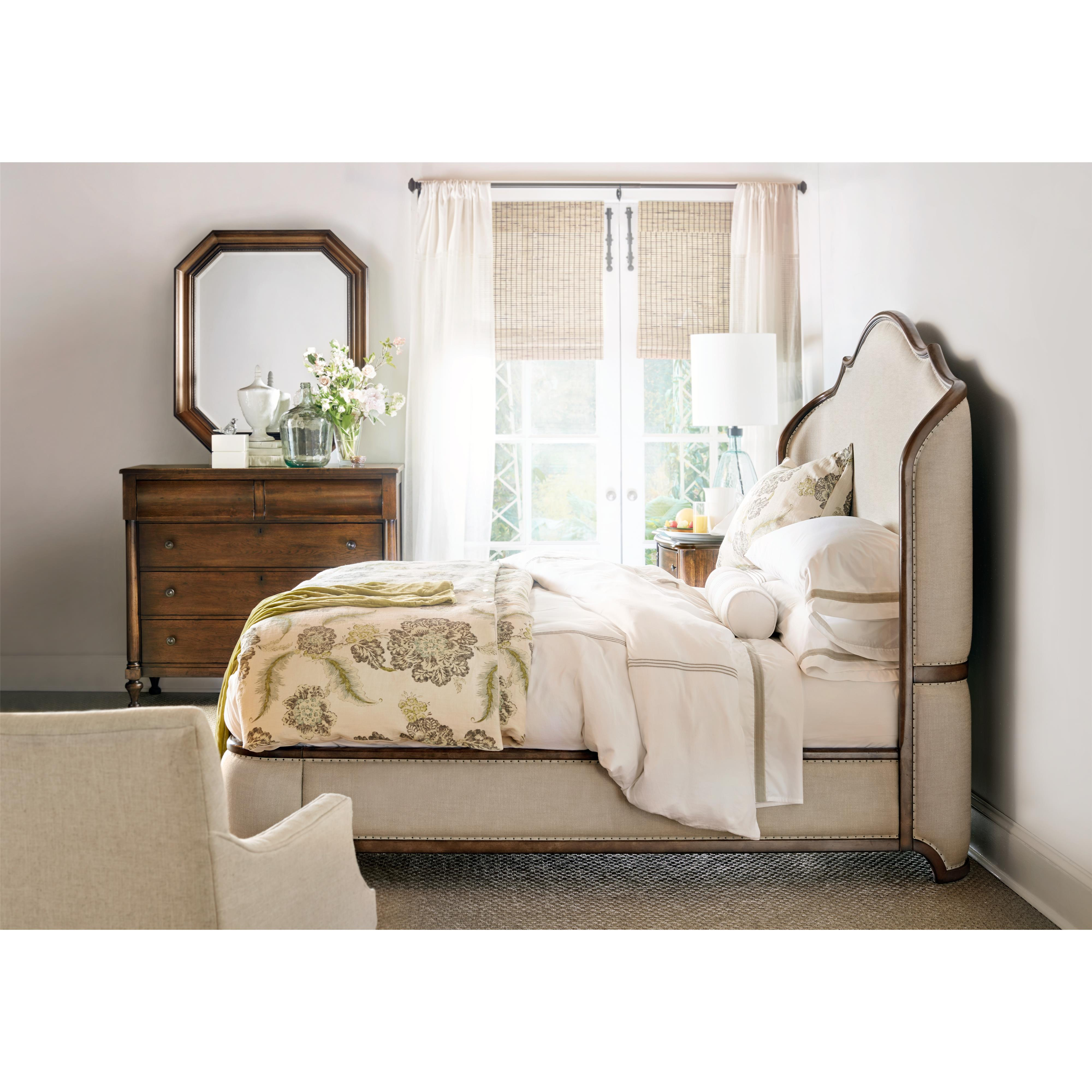 Canopy Style Bed Available For Order In These Wood Colours: Hooker Furniture Archivist Queen Upholstered Platform