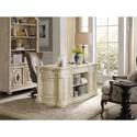 Hooker Furniture Auberose Kneehole Desk with 2 Locking File Drawers
