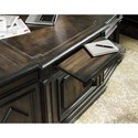 Hooker Furniture Auberose Executive Desk with Bonded Leather Surface