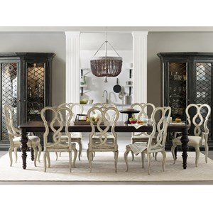 Hooker Furniture Auberose 9 Piece Dining Set