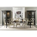 Hooker Furniture Auberose Rectangle Leg Dining Table with 2 Leaves