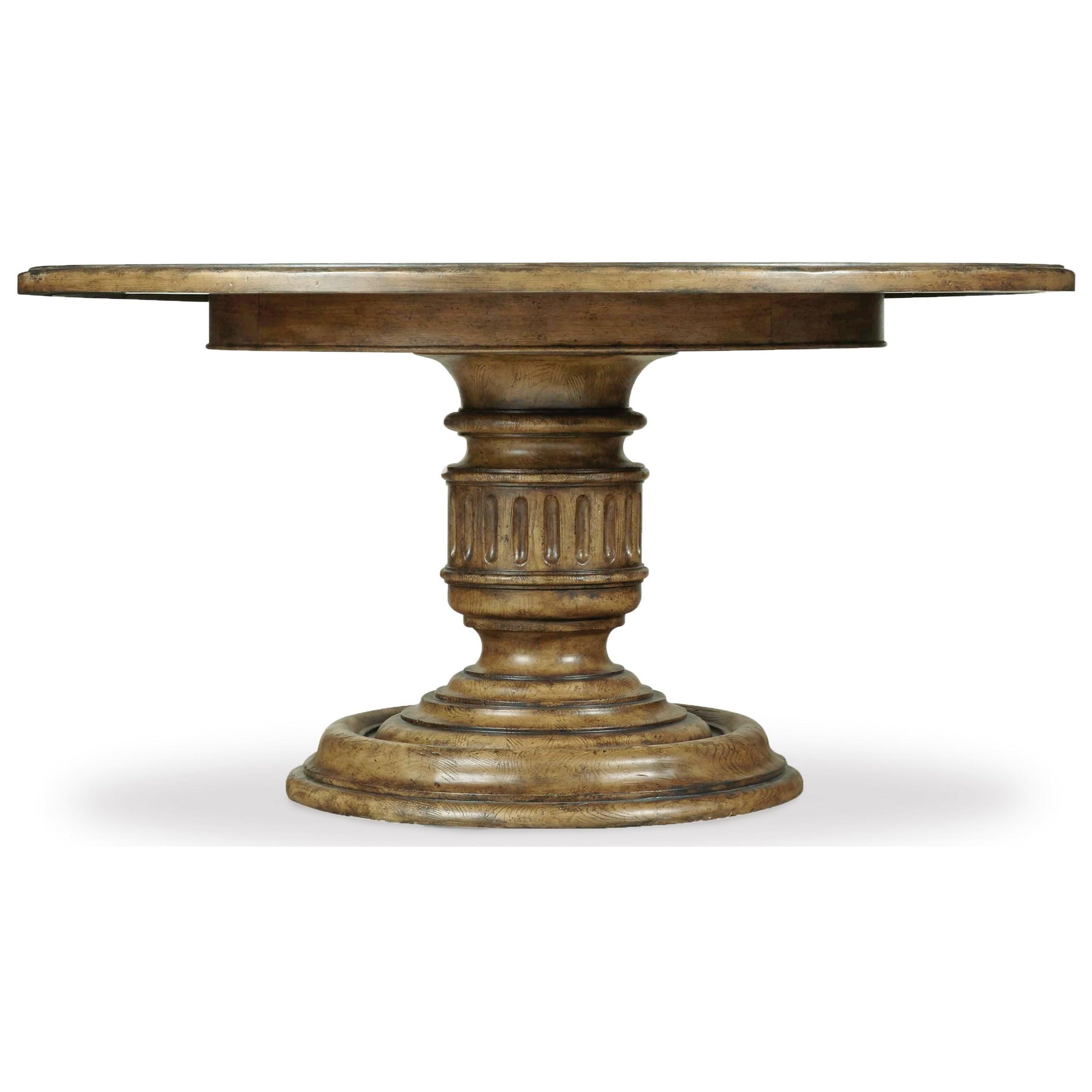 Hooker Furniture Auberose 60 Inch Round Pedestal Table - Item Number: 1595-75203-BRN