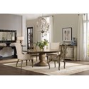 Hooker Furniture Auberose 5 Piece Dining Set with Round Pedestal Table