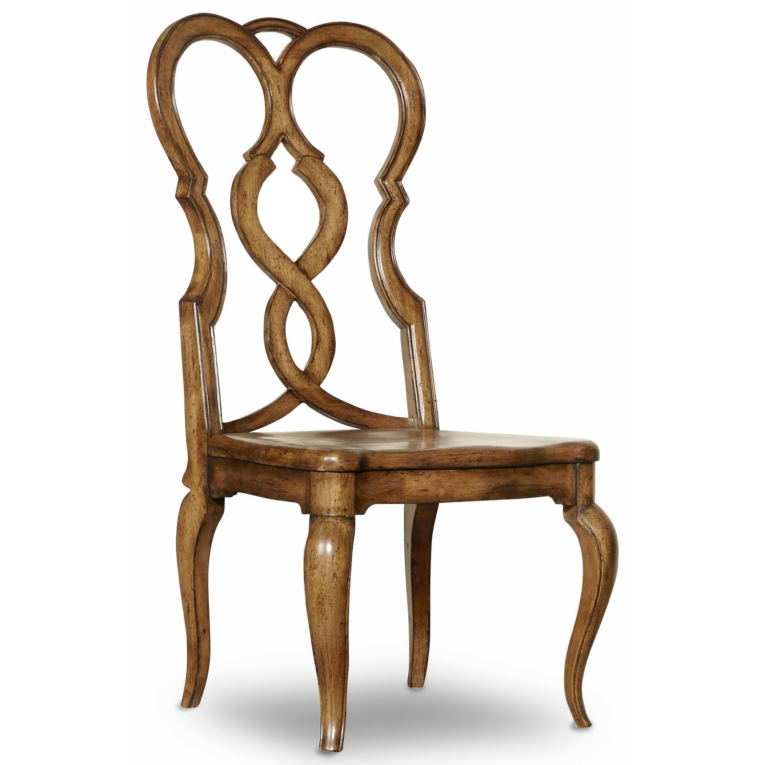 Hooker Furniture Auberose Splatback Wood Seat Side Chair - Item Number: 1595-75310E-BRN