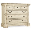 Hooker Furniture Auberose Bureau with Six Drawers - Item Number: 1595-90011-WH