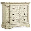 Hooker Furniture Auberose Three-Drawer Nightstand - Item Number: 1595-90016-WH