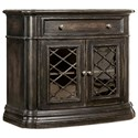 Hooker Furniture Auberose One-Drawer Two-Door Nightstand - Item Number: 1595-90016A-LTBK
