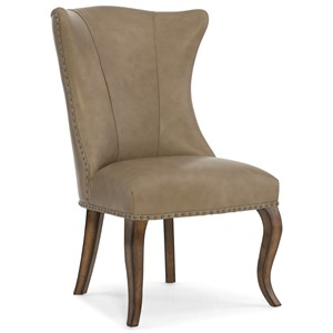 Hamilton Home Auberose Leather Dining Chair