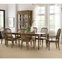 Hooker Furniture Ballantyne 7-Piece Table and Chair Set - Item Number: 5840-75200-80+4x75310-80+2x75300-80