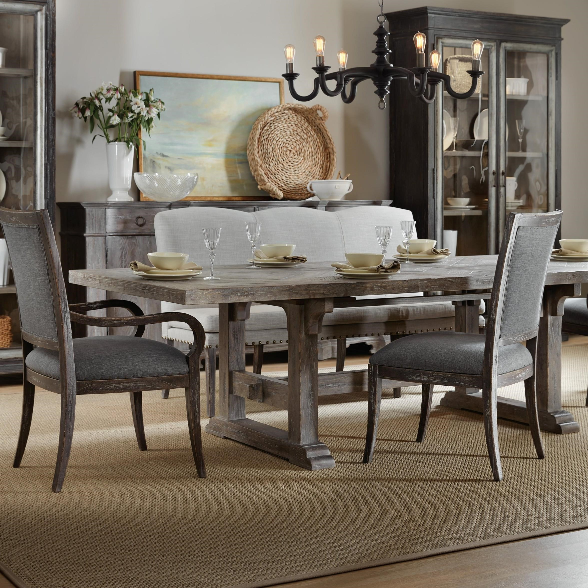 Beaumont Rectangular Dining Table With Two 22in Leaves