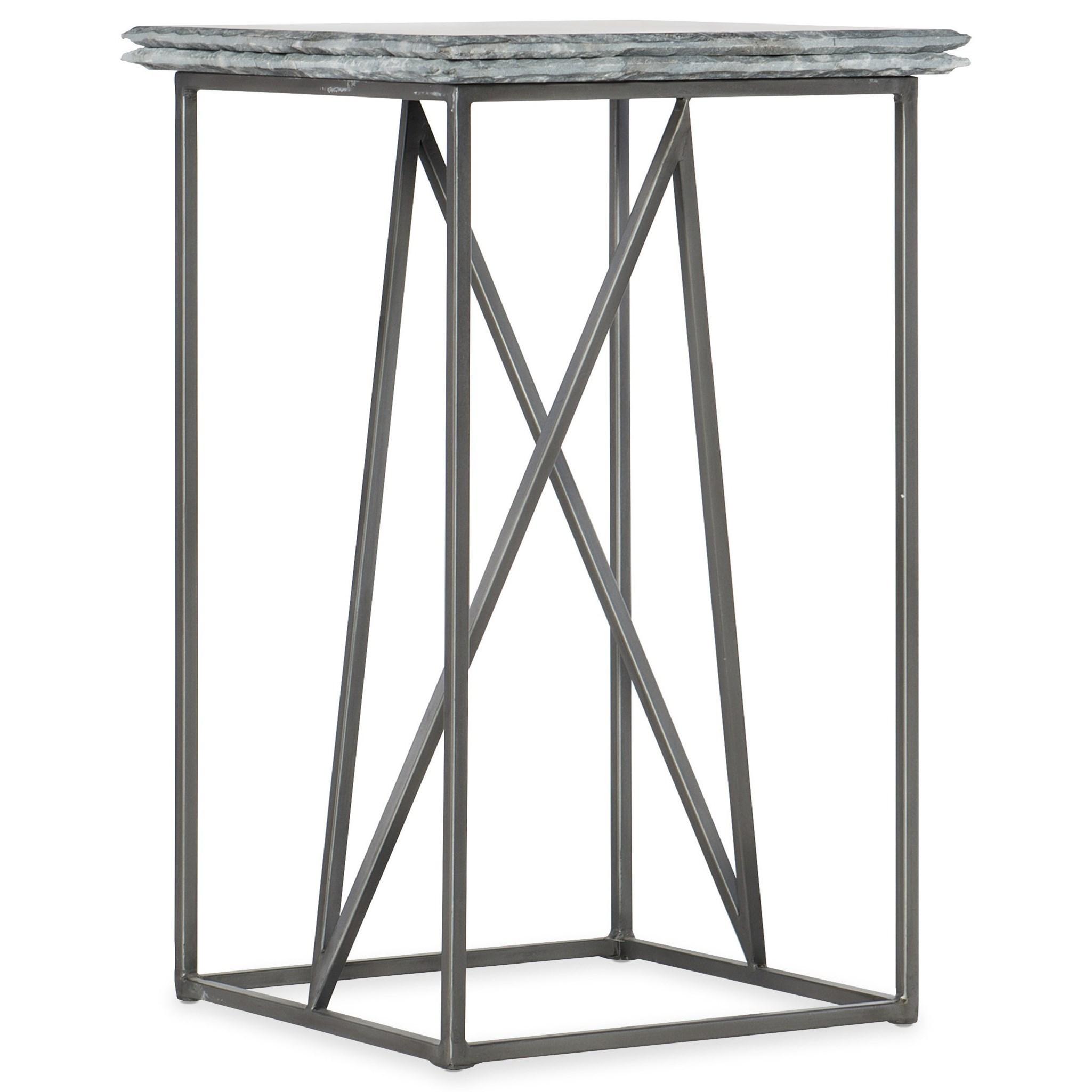 Stone-Metal Martini Table