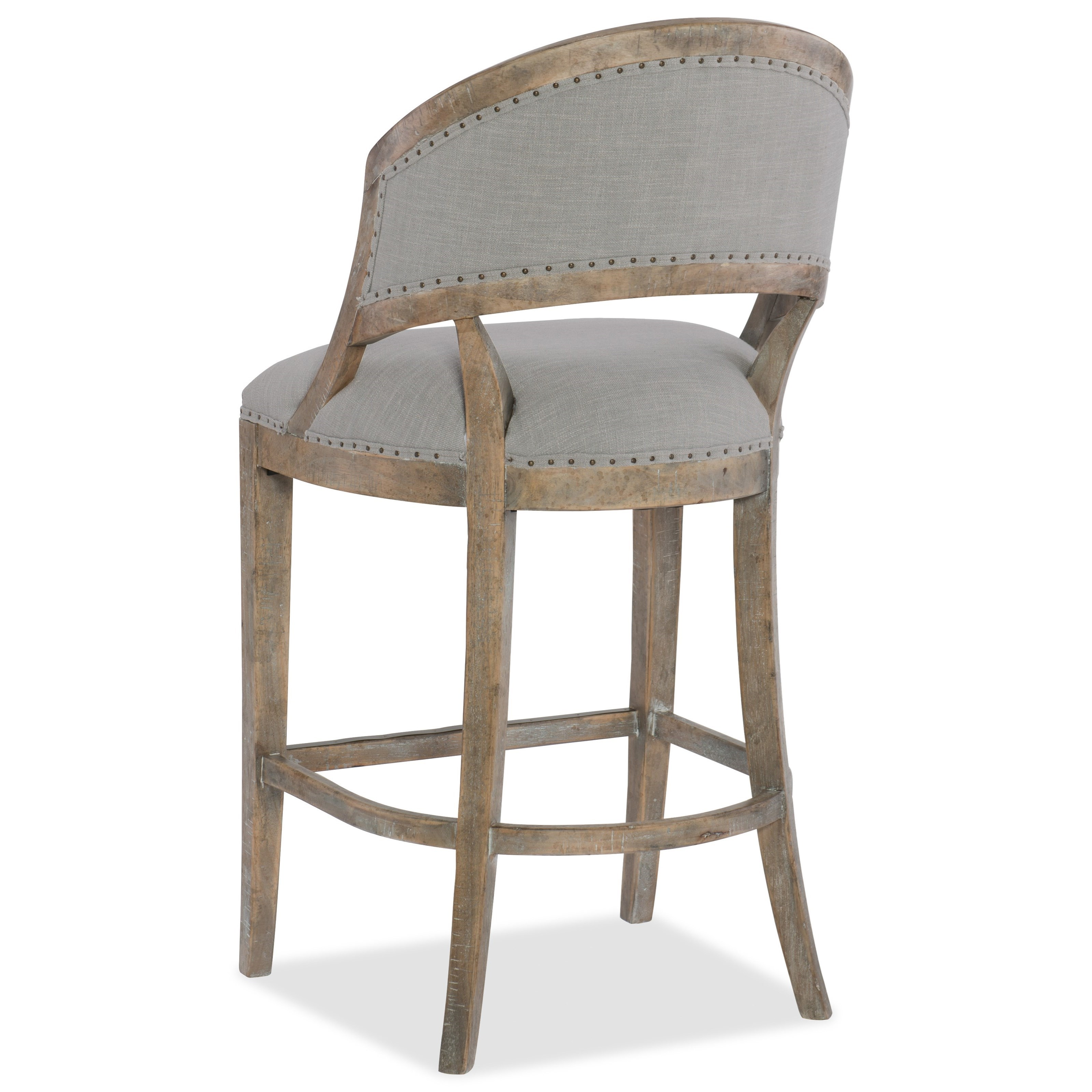 Hooker Furniture Boheme Garnier Barrel Back Bar Stool