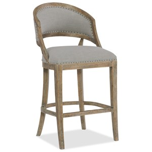 Hooker Furniture Boheme Garnier Barrel Back Bar Stool