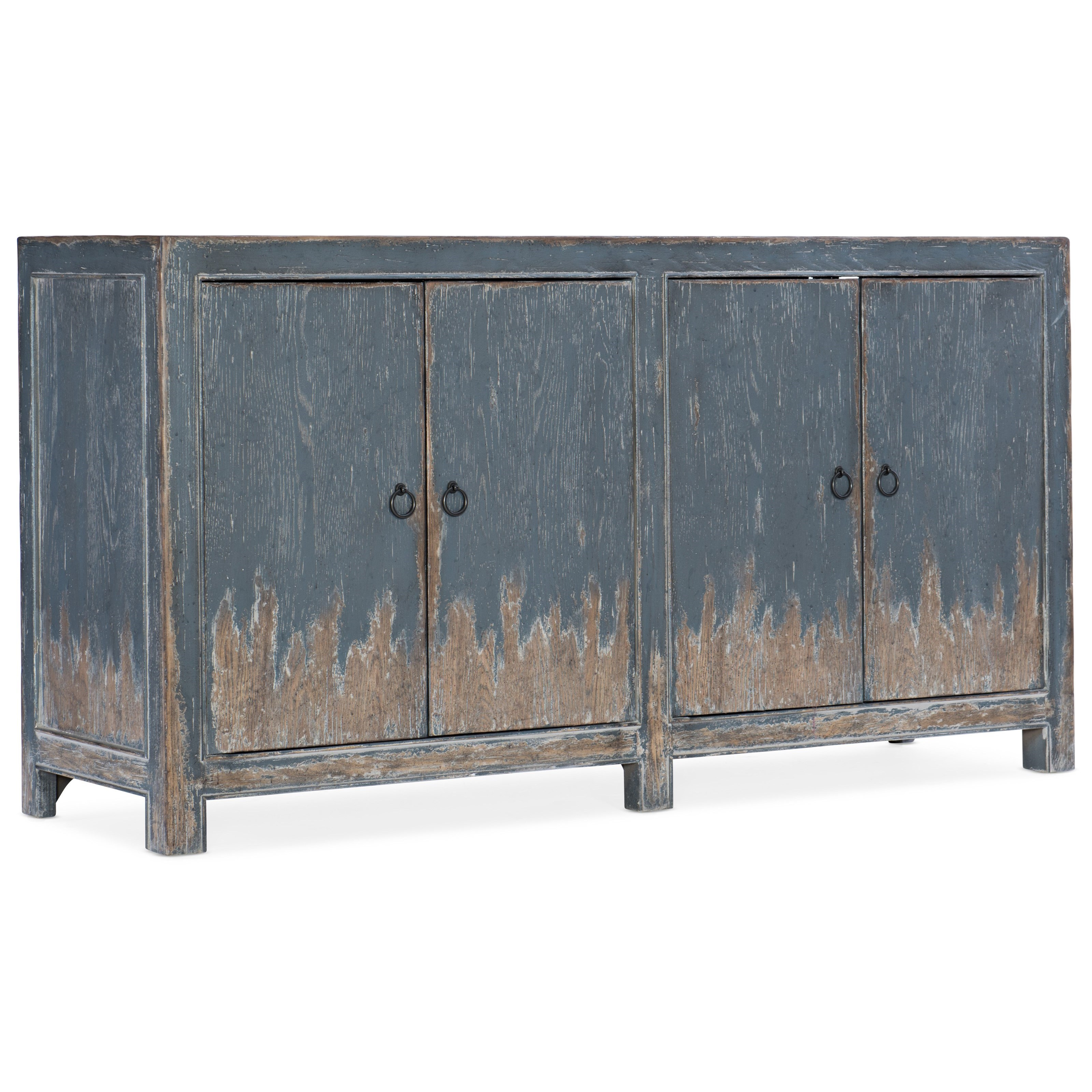 Boheme Four Door Media Console by Hooker Furniture at Zak's Home