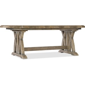 "Hooker Furniture Boheme Colibri 88"" Trestle Dining Table"