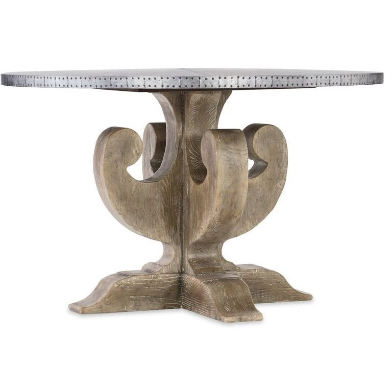 Boheme Adjustable Metal Top Dining Table by Hooker Furniture at Miller Waldrop Furniture and Decor