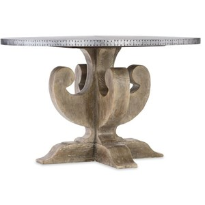 Hooker Furniture Boheme Adjustable Metal Top Dining Table