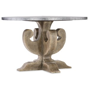 Hooker Furniture Boheme Ascension 48in Zinc Round Dining Table Top