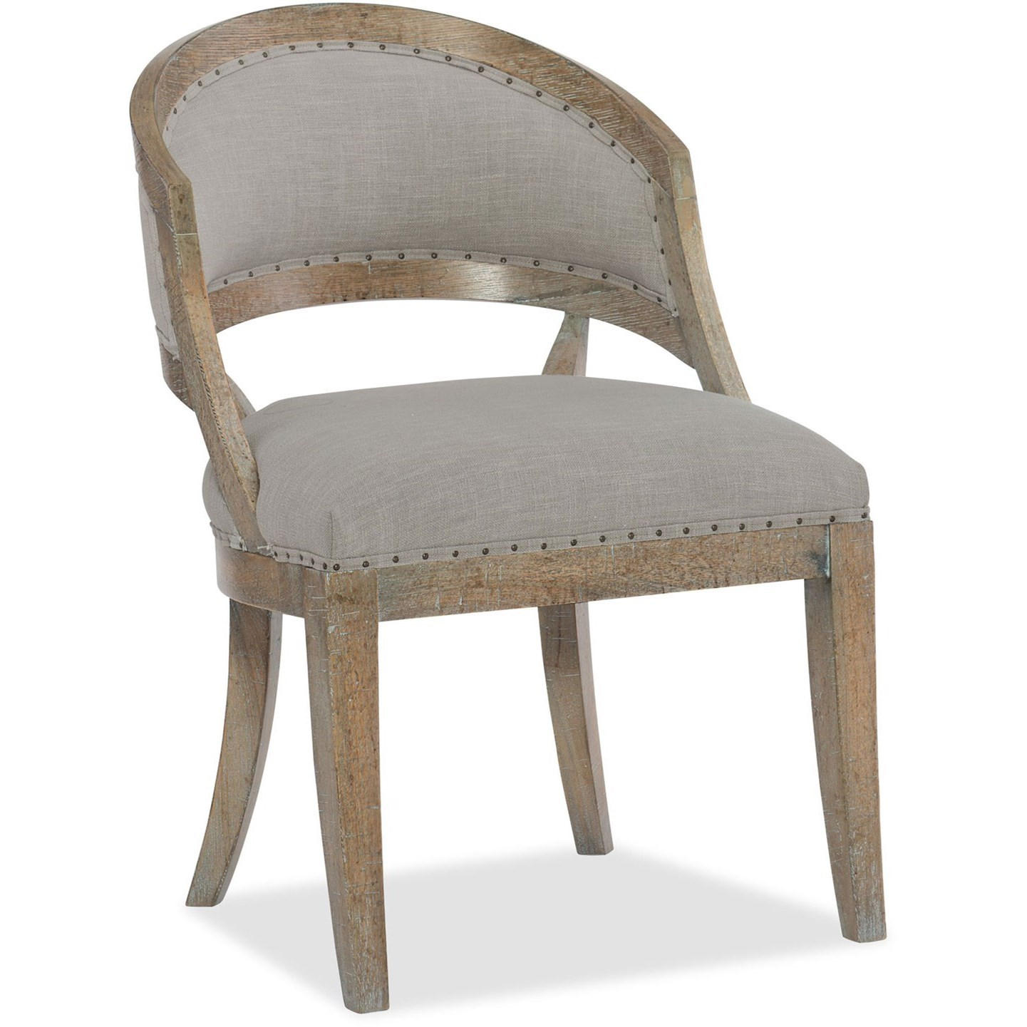 Boheme Barrel Back Side Chair by Hooker Furniture at Zak's Home
