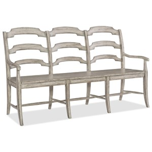 Hooker Furniture Boheme Du Monde Ladderback Dining Bench