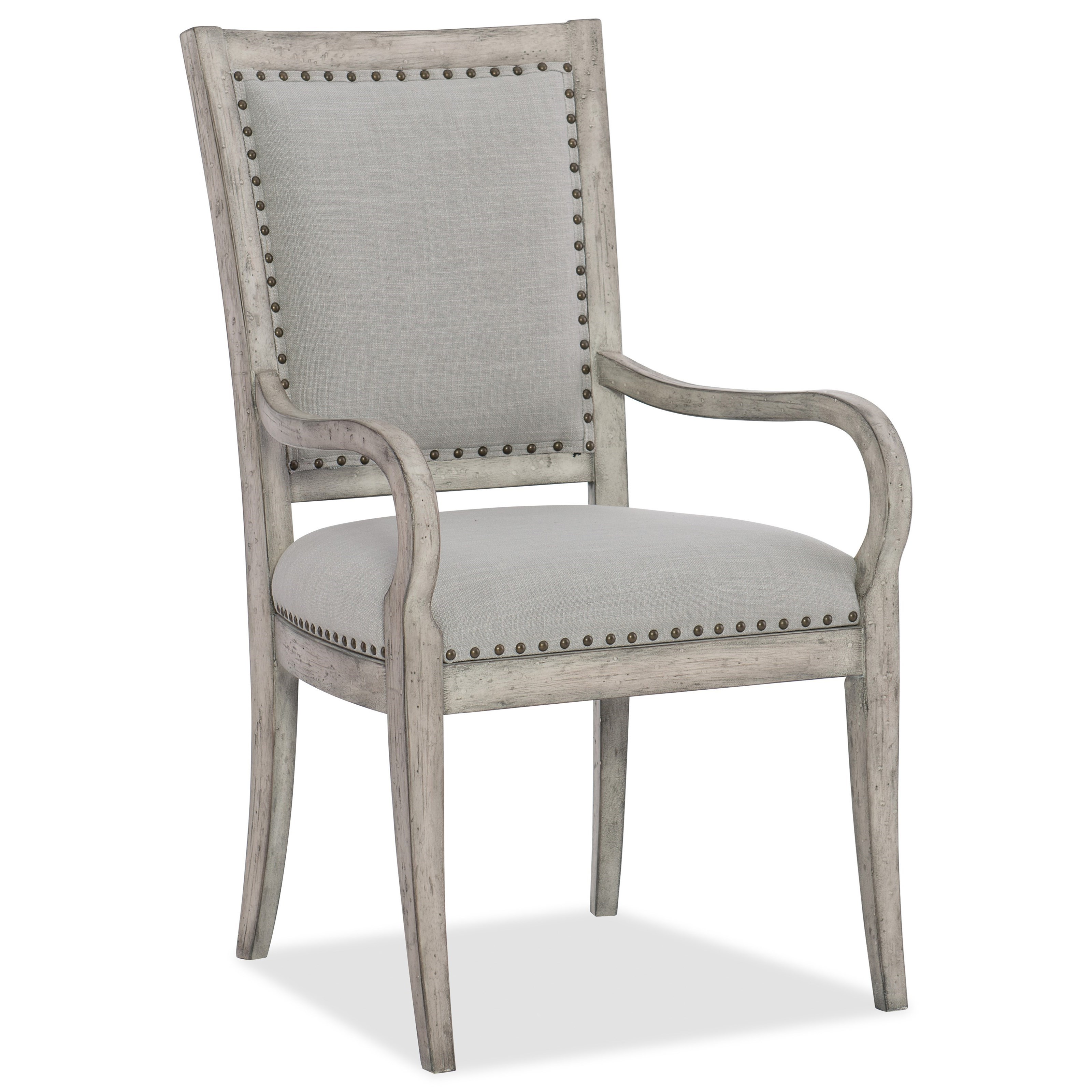 Boheme Vitton Upholstered Arm Chair by Hooker Furniture at Zak's Home