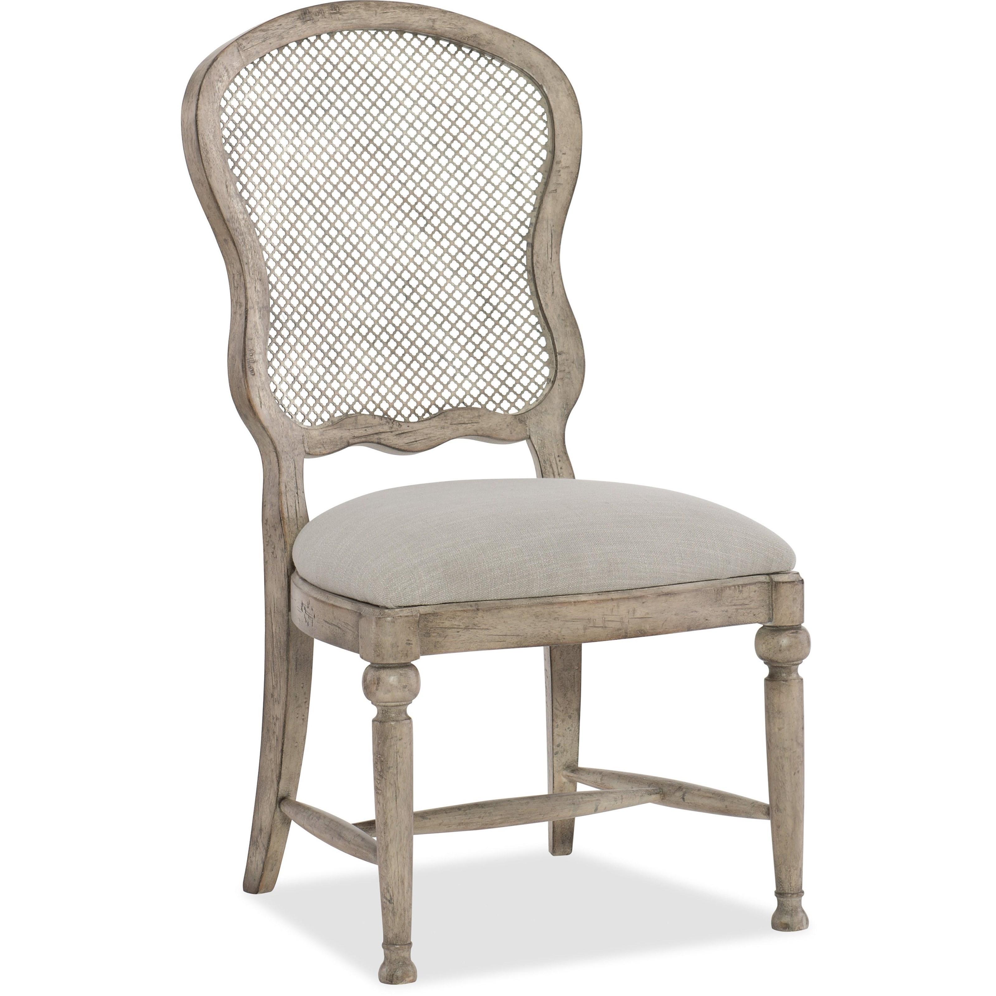 Boheme Gaston Metal Back Side Chair by Hooker Furniture at Miller Waldrop Furniture and Decor