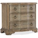 Hooker Furniture Boheme Three Drawer Nightstand - Item Number: 5750-90016-MWD