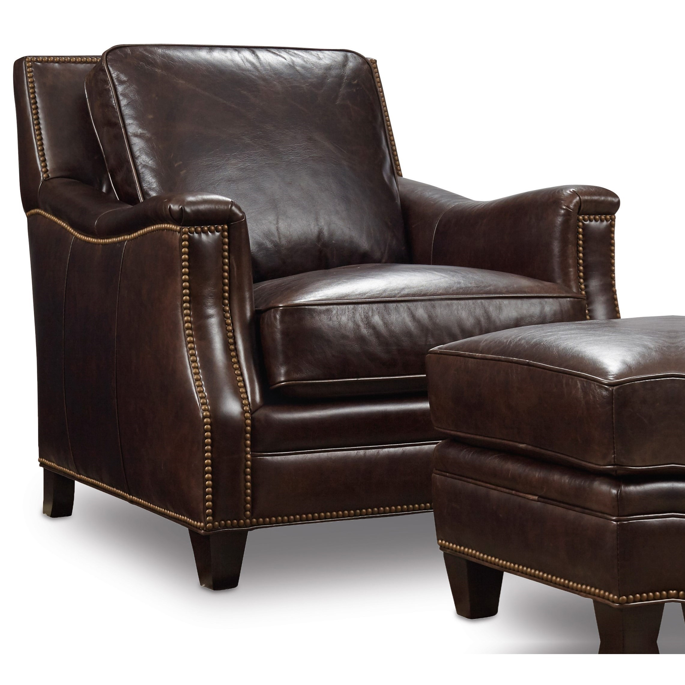 Hooker Furniture Bradshaw Stationary Leather Chair - Item Number: SS351-01-088