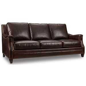 Hooker Furniture Bradshaw Stationary Leather Sofa