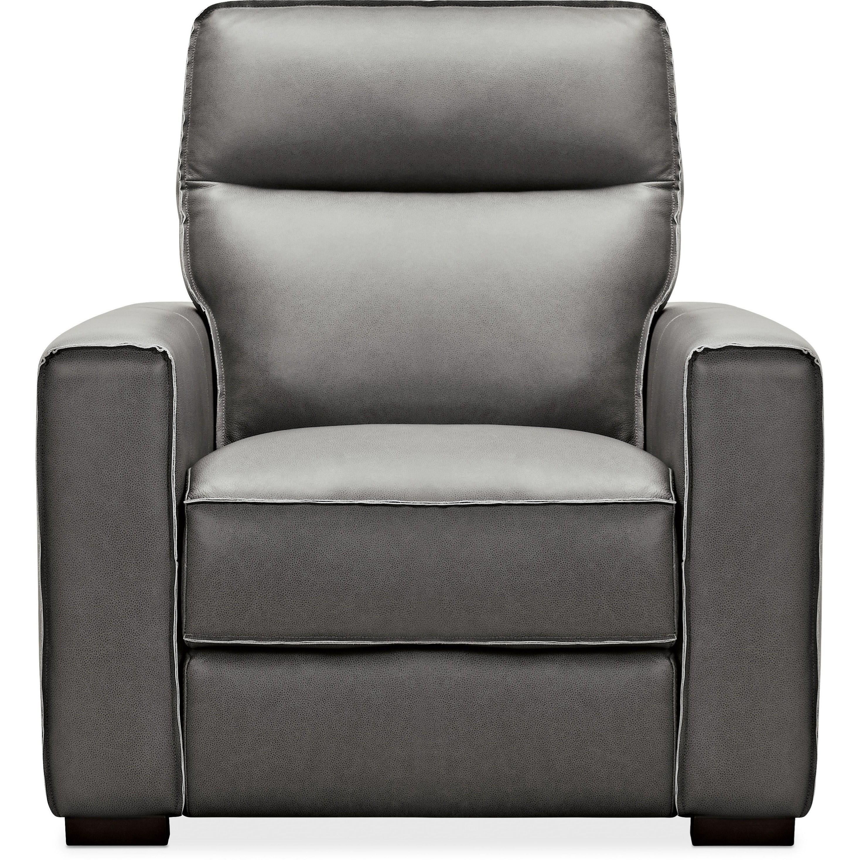 Braeburn Leather Recliner w/ Power Headrest by Hooker Furniture at Miller Waldrop Furniture and Decor