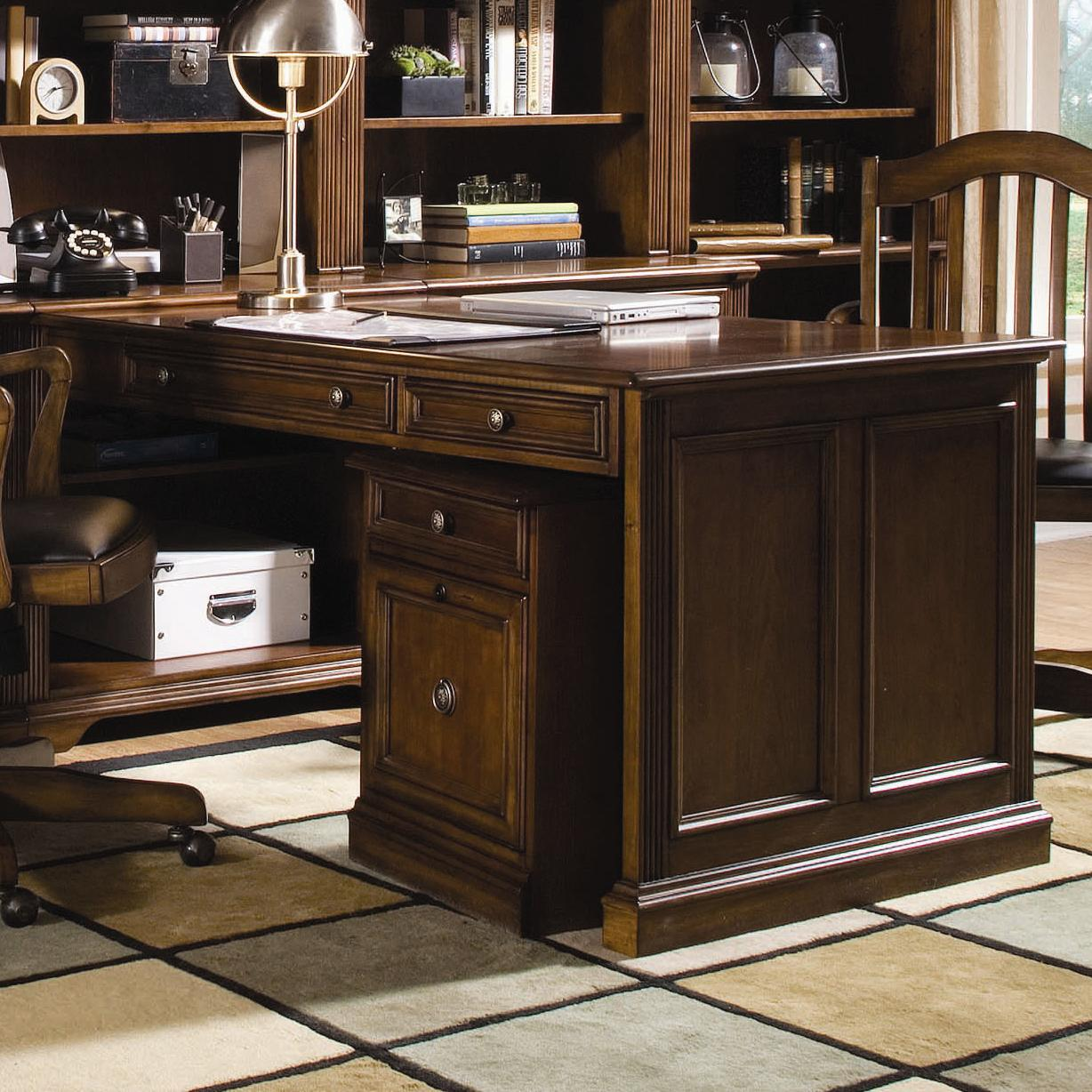 Hooker Furniture Brookhaven Peninsula Desk - Item Number: 281-10-411