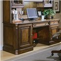 Hooker Furniture Brookhaven Kneehole Credenza with CPU Storage and Keyboard Drawer