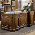 Hooker Furniture Brookhaven Leather Top Executive Desk with Seven Drawers - 281-10-563 - Back View