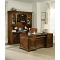 Hooker Furniture Brookhaven Executive Desk with File Drawers