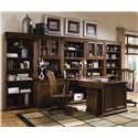 Hamilton Home Brookhaven Tilt Swivel Desk Chair - Shown with Peninsula Desk, Computer Desk, Mobile File Cabinet, Open Hutch, Closed Hutch, and Tall Bookcase