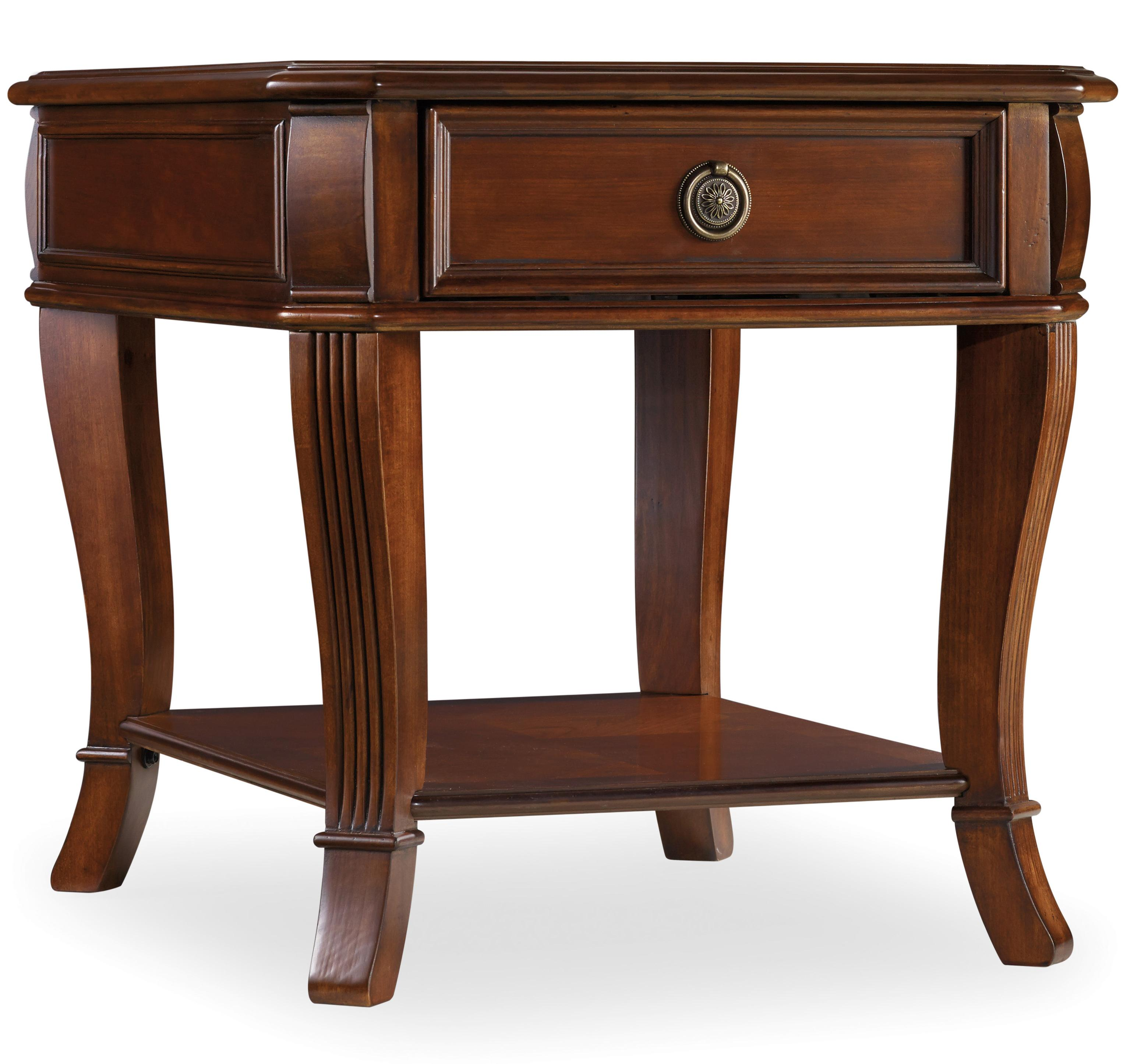 Brookhaven End Table by Hooker Furniture at Miller Waldrop Furniture and Decor