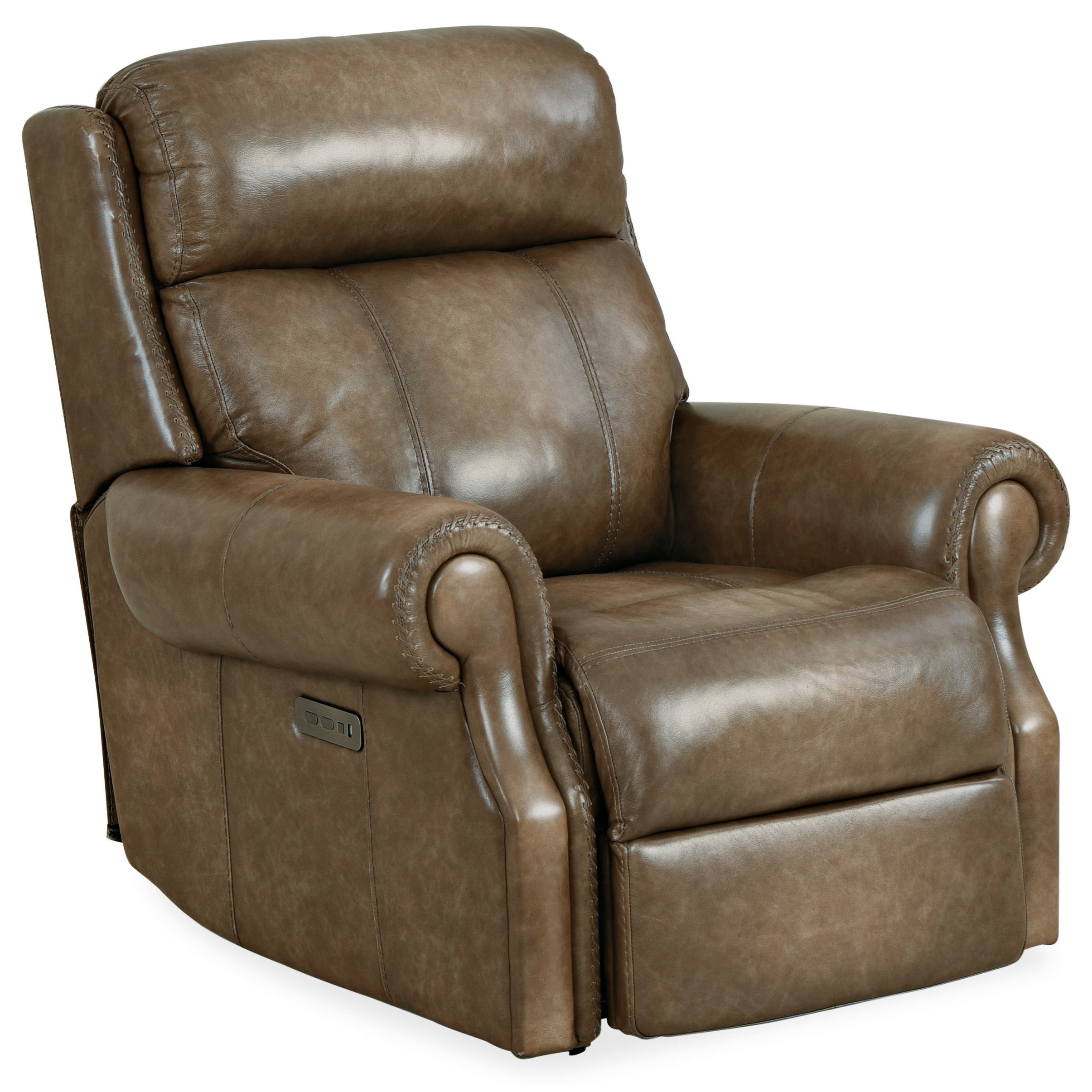 Brooks Power Recliner w/ Power Headrest by Hooker Furniture at Baer's Furniture