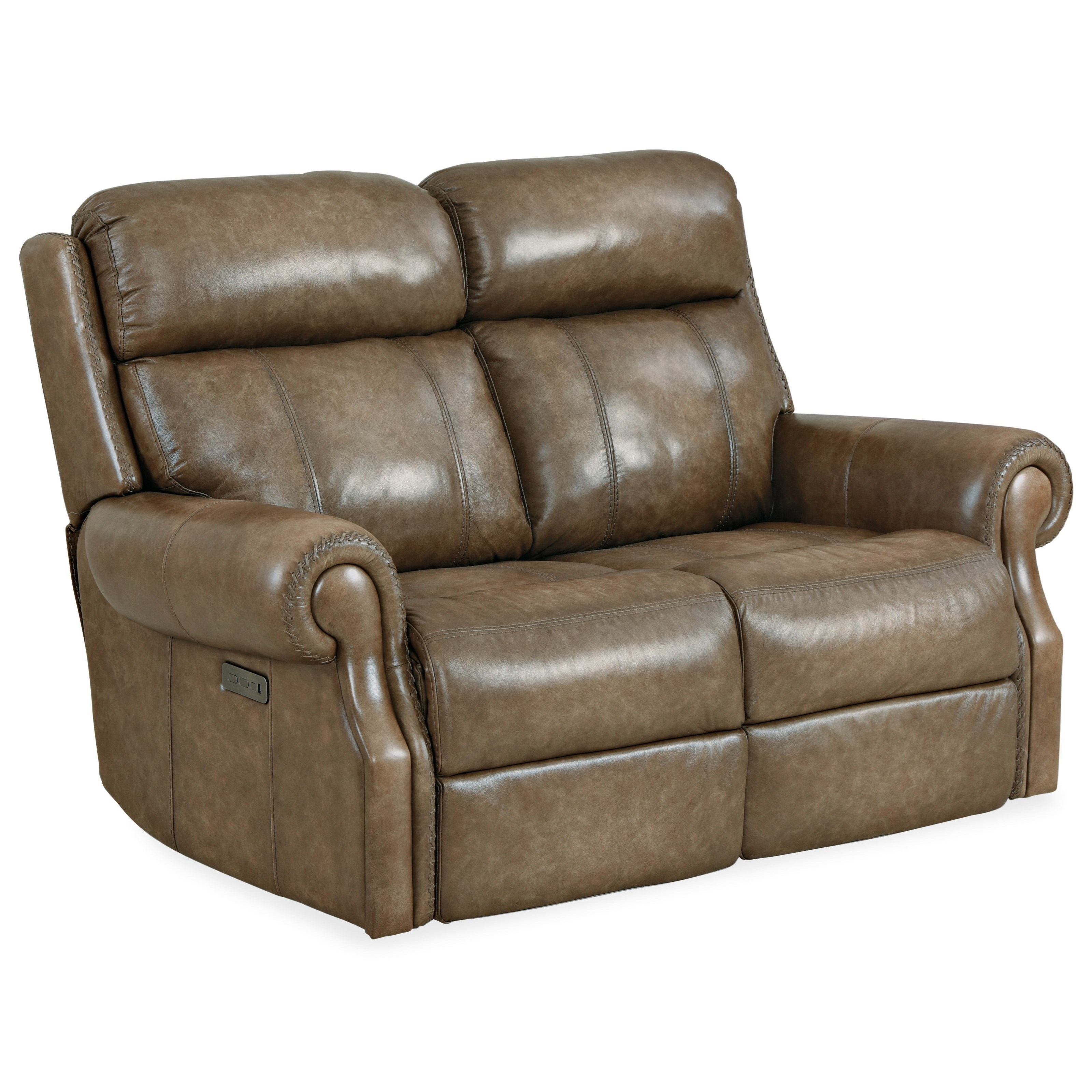 Brooks Power Loveseat w/ Power Headrest by Hooker Furniture at Baer's Furniture