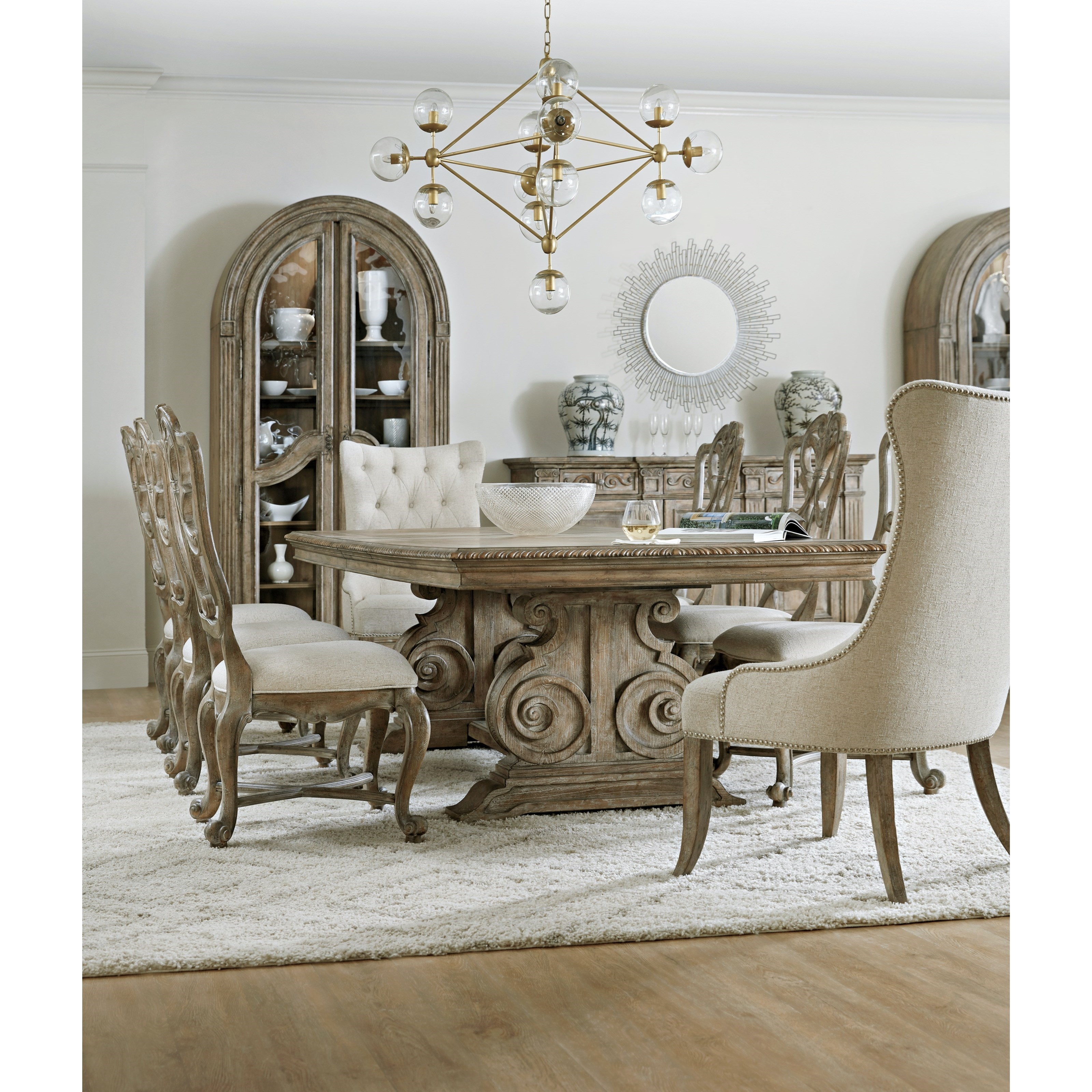 Castella Formal Dining Room Group by Hooker Furniture at Miller Waldrop Furniture and Decor