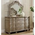 Hooker Furniture Castella Dresser and Mirror Set - Item Number: 5878-90002-80+90008-80