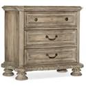 Hooker Furniture Castella 3-Drawer Nightstand - Item Number: 5878-90016-80