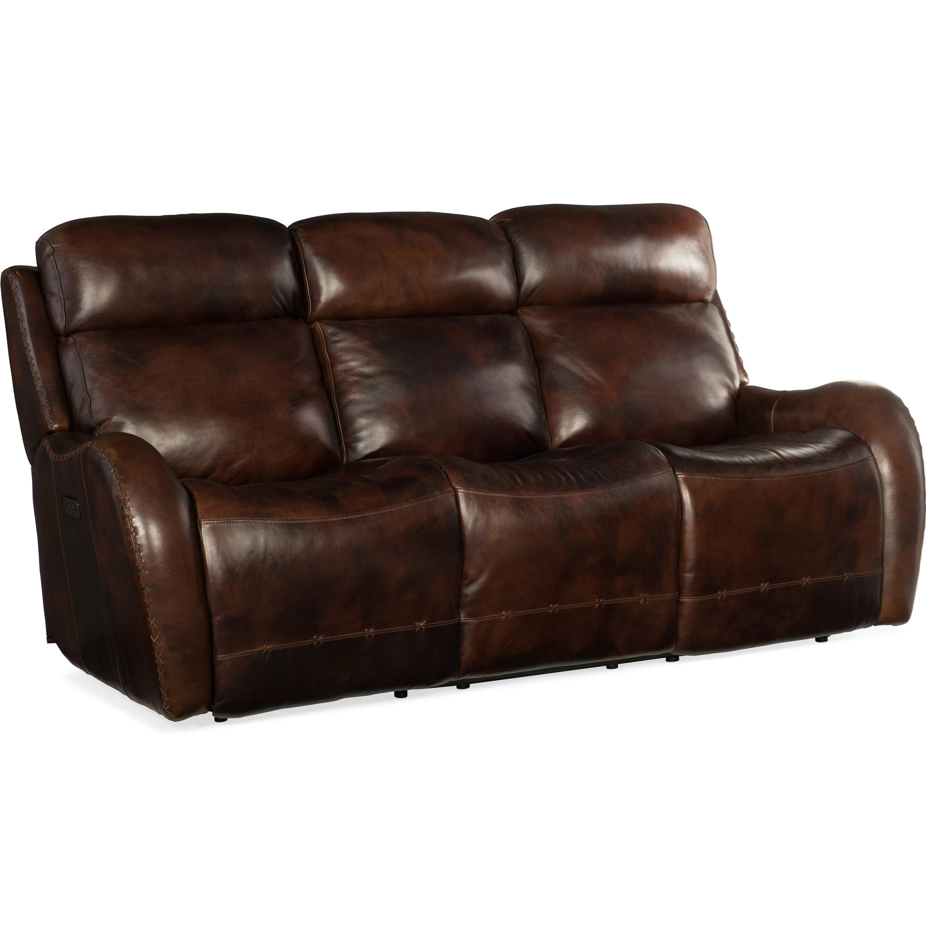 Chambers Power Recliner Sofa by Hooker Furniture at Miller Waldrop Furniture and Decor