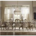 Hamilton Home Chatelet 9 Piece Dining Set - Item Number: 5300-75200+2x5350-75400+6x75410