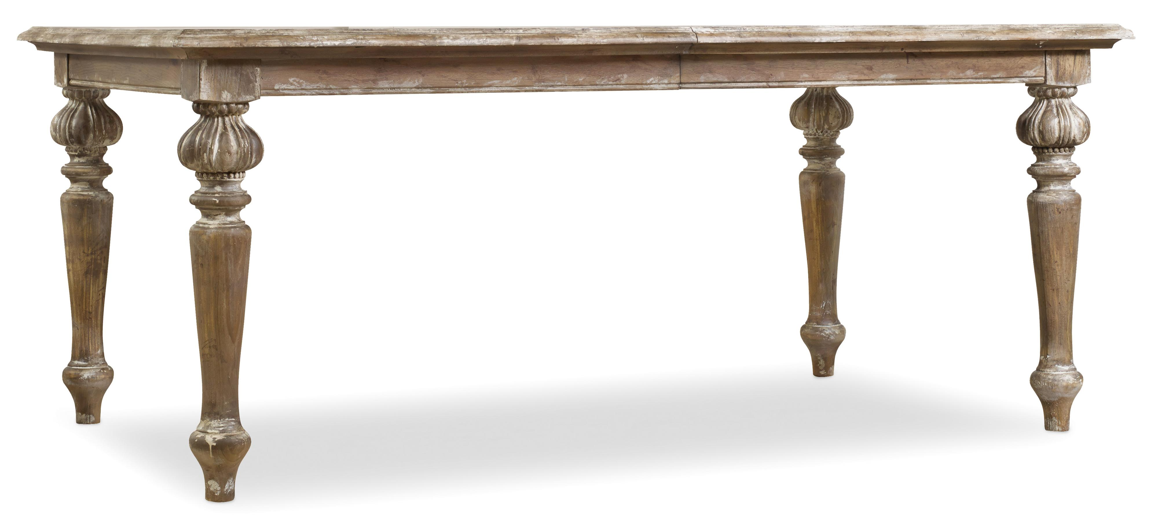 Chatelet Rectangle Leg Dining Table by Hooker Furniture at Miller Waldrop Furniture and Decor