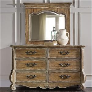 Hooker Furniture Chatelet Dresser and Mirror Set
